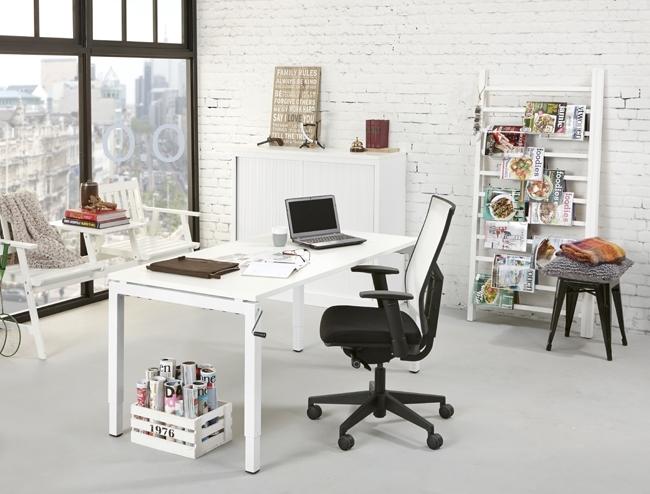 Orange Office 4-poots Bureau met slingerverstelling 180 x 80 cm