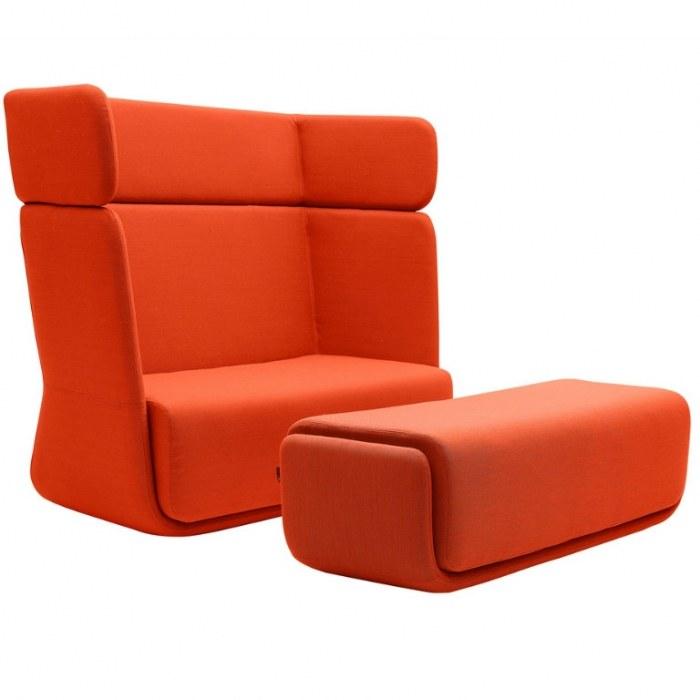 Softline Loungebank Basket Sofa hoge rug