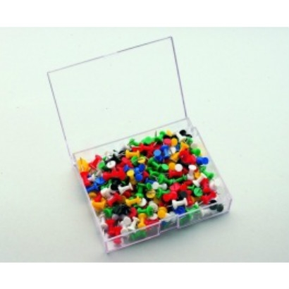 Push pin 200 stuks assorti