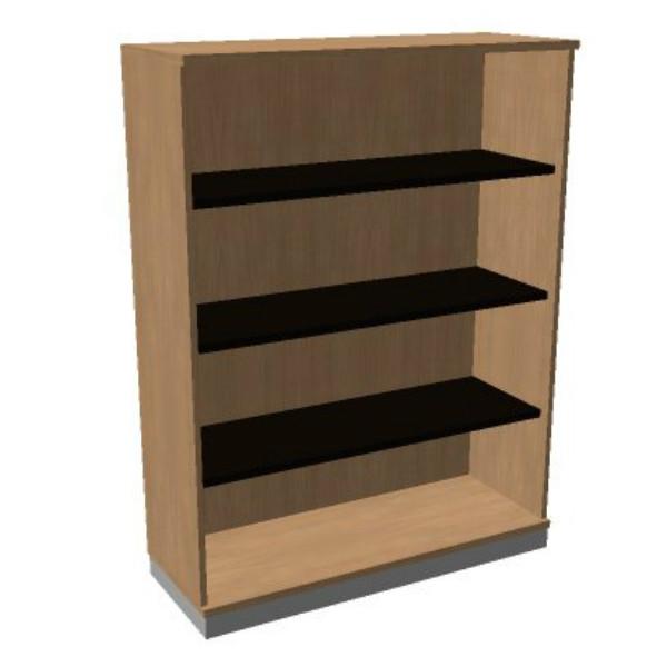 OKA houten open kast 158,7x120x45 cm