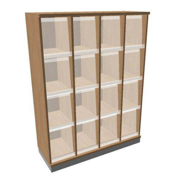OKA houten documentatiekast 158,7x120x45 cm