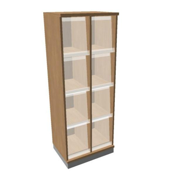 OKA houten documentatiekast 158,7x60x45 cm