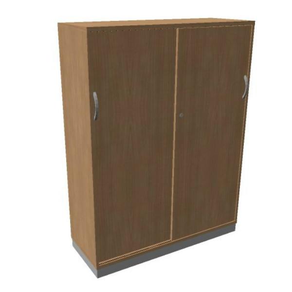 OKA houten schuifdeurkast 158,7x120x45 cm