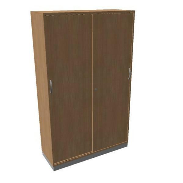 OKA houten schuifdeurkast 197,1x120x45 cm