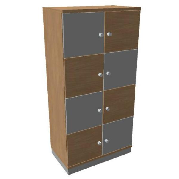 OKA houten lockerkast 8 deurs