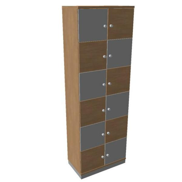 OKA houten lockerkast  12 deurs
