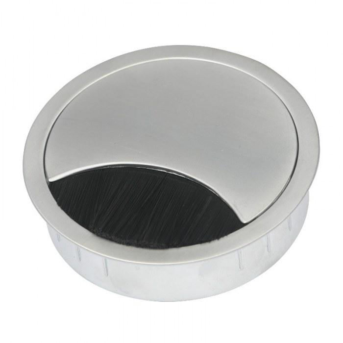 Kabeldoorvoer metaal Ø 80 mm chroom mat