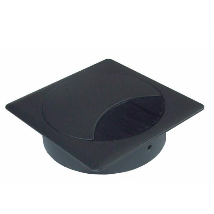 Kabeldoorvoer metaal vierkant zwart