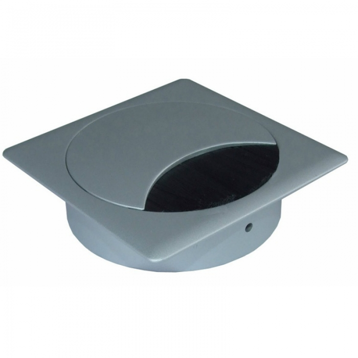 Kabeldoorvoer metaal vierkant RAL 9006