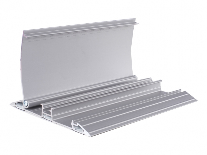 Vloergoot aluminium 2000 mm