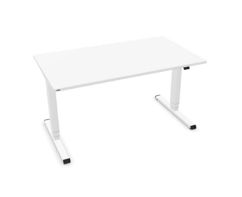 Assmann EASY zit-sta bureau wit 140 x 80 cm