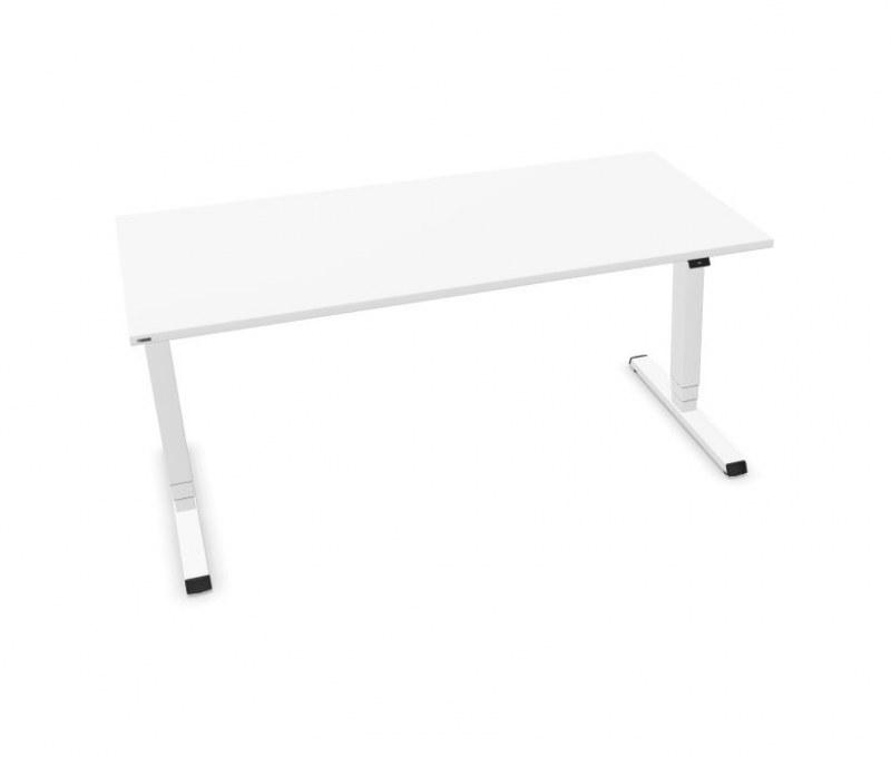 Assmann EASY zit-sta bureau wit 160 x 80 cm