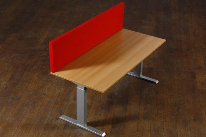 Akoestische desk-up scheidingswand B-MoVe 1200x400 mm