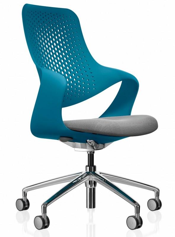 Boss Coza Bureaustoel met blauwe rugleuning