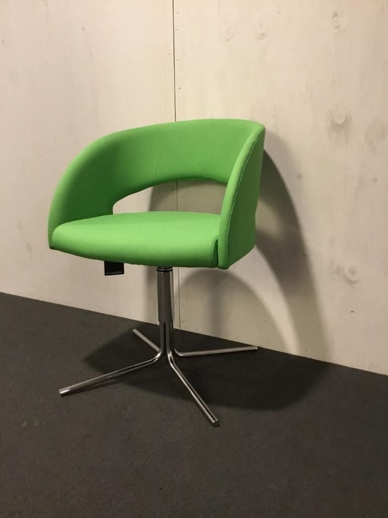 Sesta bijzetstoel draaibaar groen