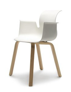 Flötotto Pro Chair houten onderstel armleuningen
