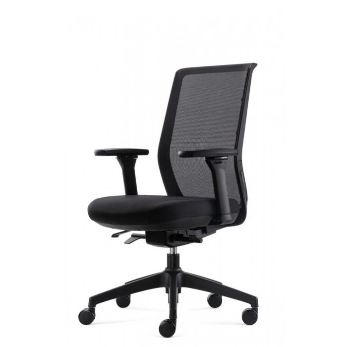 Bowerkt bureaustoel FYC 237 - Synchro 4 - zwart