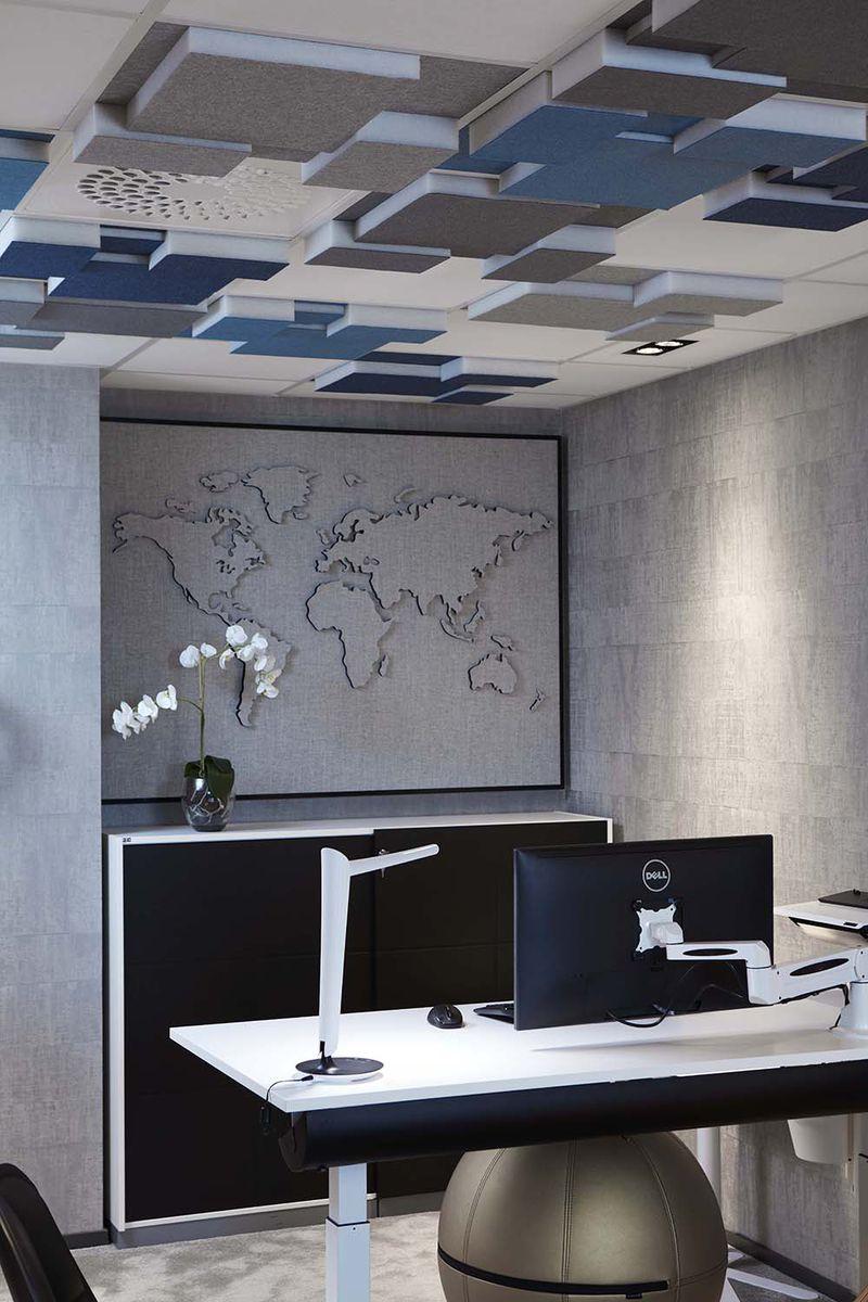 Gotessons Nivå akoestisch plafondpaneel gestoffeerd 60 x 60 cm