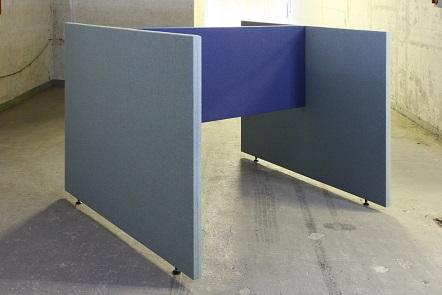 Akoestische scheidingswand B-MoVe H-opstelling 1800 mm