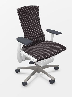 Herman Miller Embody white titanium bureaustoel