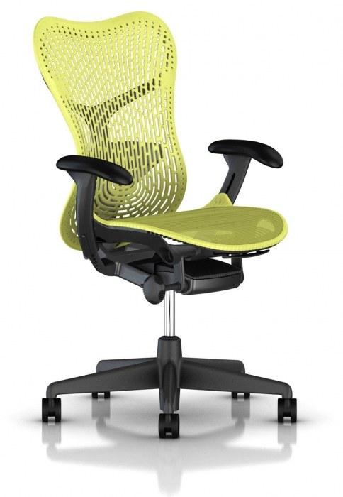 Herman Miller Mirra 2 lime bureaustoel MRF133