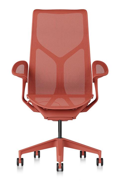 Herman Miller COSM bureaustoel met hoge rug rood