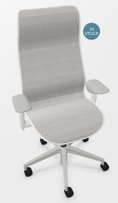 Herman Miller COSM bureaustoel met hoge rug wit