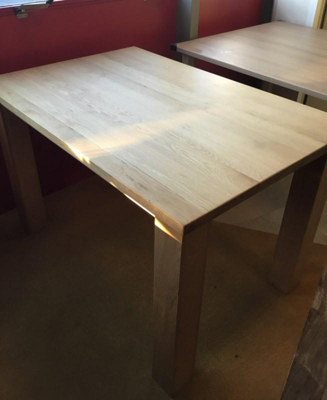 Huismerk tafel massief hout 120 x 80 cm