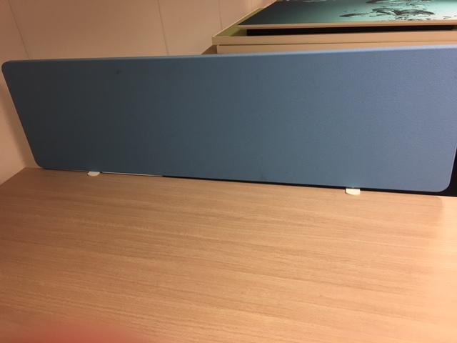 Bureauopzetwand SCF625 blauw