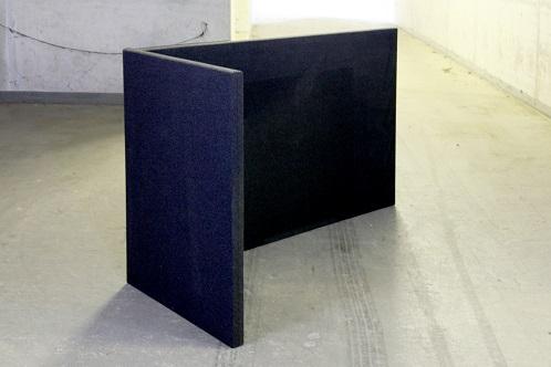 Akoestische scheidingswand B-MoVe L-opstelling links 1600 mm
