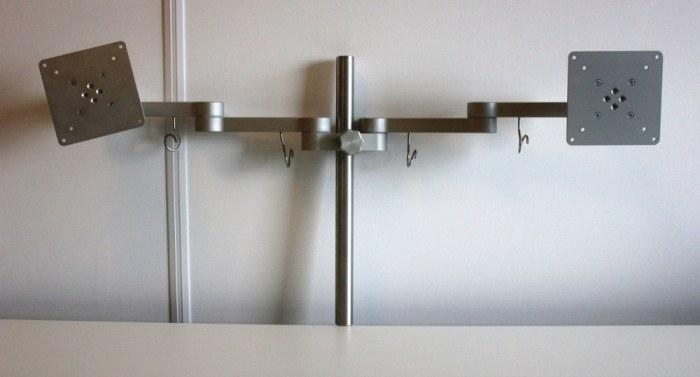 Monitorarm zilver dubbel [76]