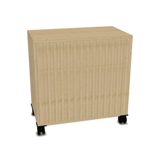 OKA houten kast op wielen 80,5x80x45cm
