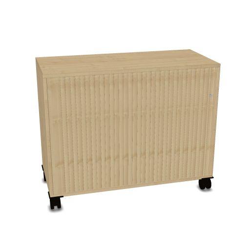 OKA houten kast op wielen 80,5x100x45cm