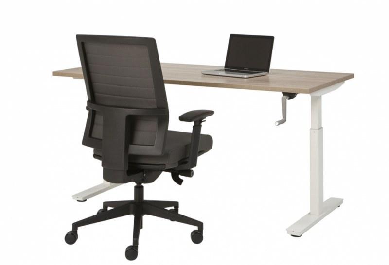 Orange Office T-poot Bureau met slingerverstelling zit-zit 120 x 80 cm