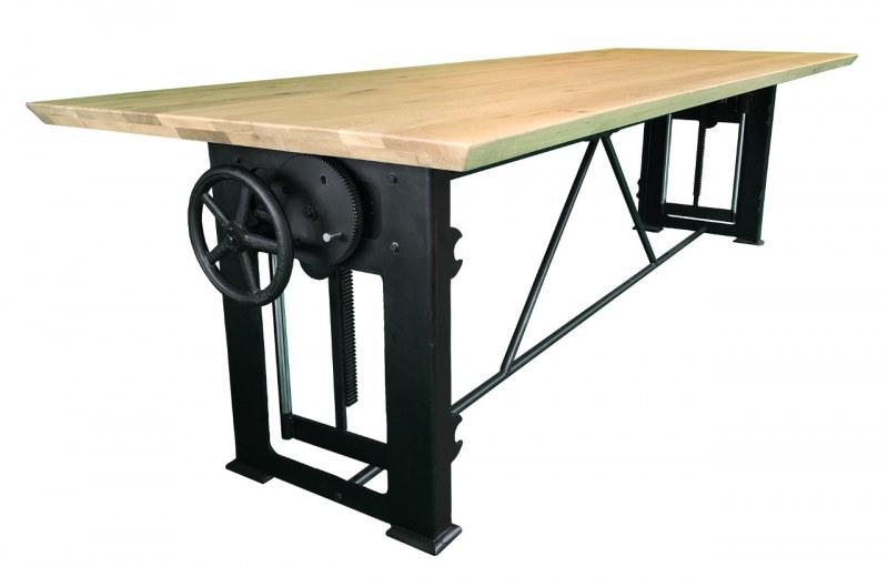 Bowerkt Industriële hoogte verstelbare tafel 300 x 100 cm