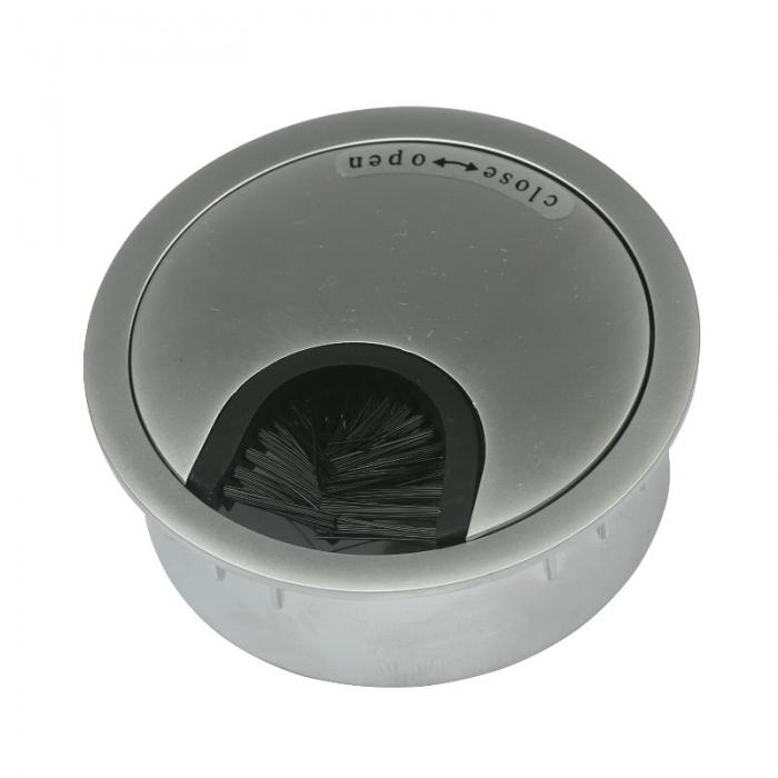 Kabeldoorvoer metaal Ø 60 mm chroom mat
