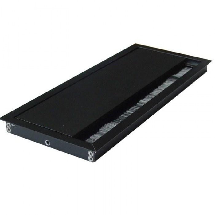 Kabeldoorvoer 100x240x13mm zwart met softclose sluiting