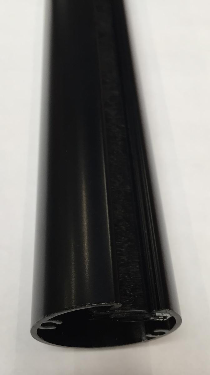 Aluminium buiszuil van vloer tot plafond mat zwart