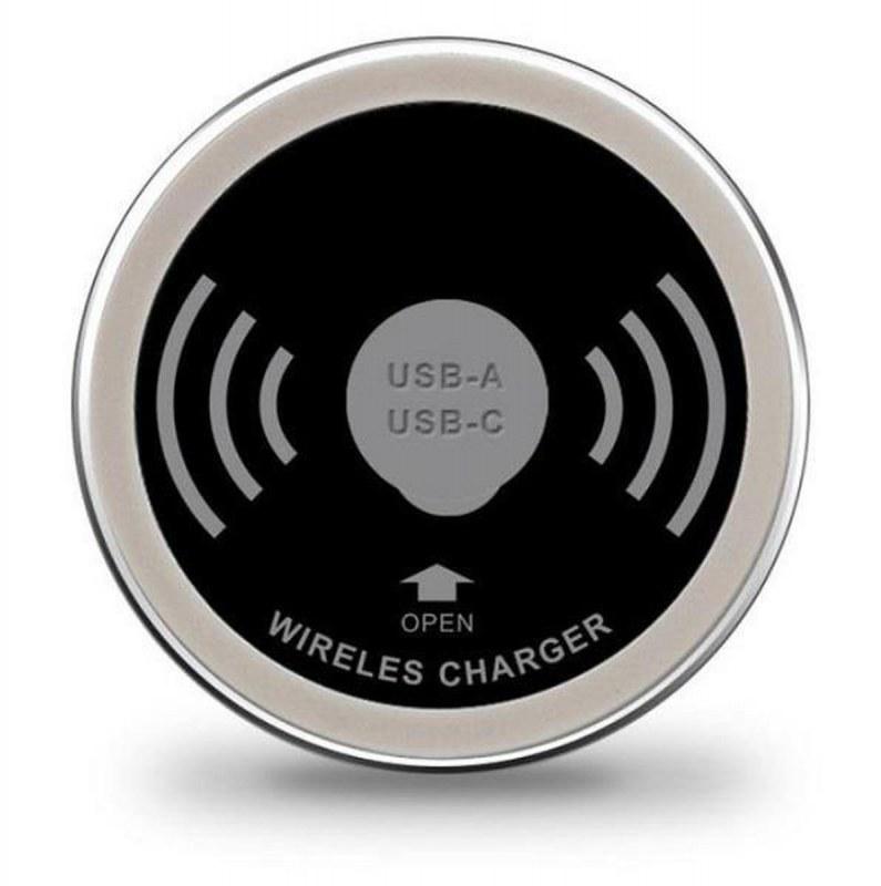 Draadloze oplader inclusief USB-A en USB-C charger