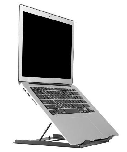 Thovip Laptophouder / verhoger metaal zwart