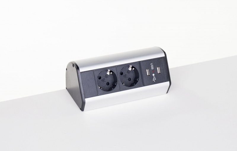 Götessons Office Powerdock 2x Stroom 2x USB Charger