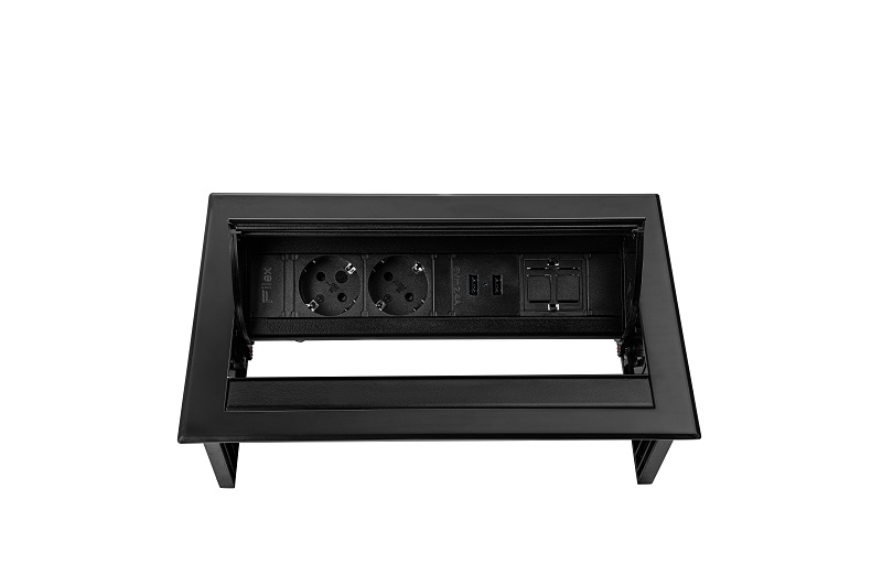 Thovip Power Desk IN 2 x stroom + 2 x USB charger + 1 x leeg
