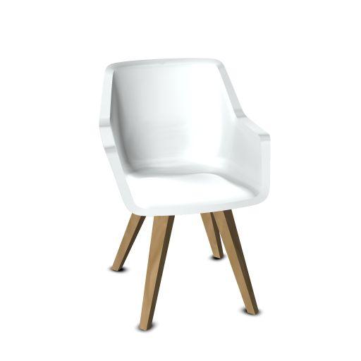 Viasit Repend lounge stoel eiken poten