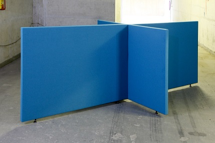 Akoestische scheidingswand B-MoVe X-opstelling 1800 mm