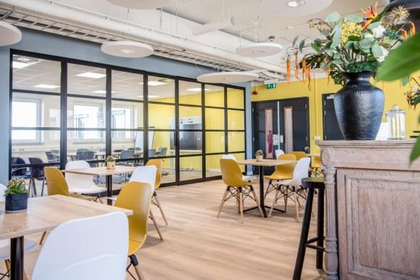 Werken, vergaderen en ontspannen in het kantoor van Acerta Pharma