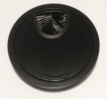 Kabeldoorvoer metaal Ø 88mm mat zwart gelakt   423007.088000022.000 0