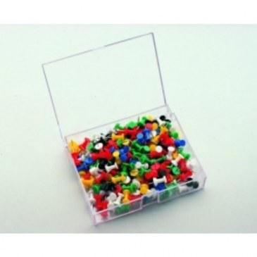 Push pin 200 stuks assorti  7-145299 0