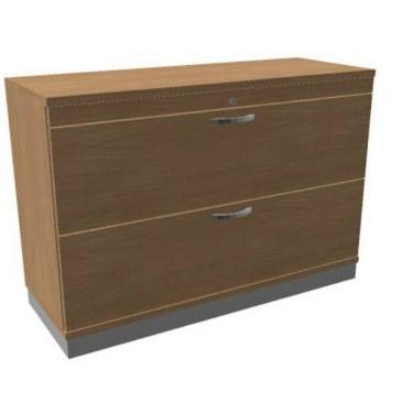 Oka houten hangmappenkast  2 laden 120 breed  SBHAC26 0