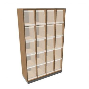 OKA houten documentatiekast 197,1x120x45 cm  SBKAI26 0