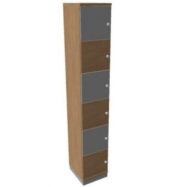 OKA houten lockerkasten 6 deurs  SBGAJ17 0